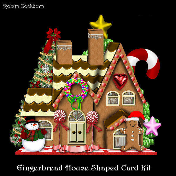 Gingerbread House Shaped Mini Kit