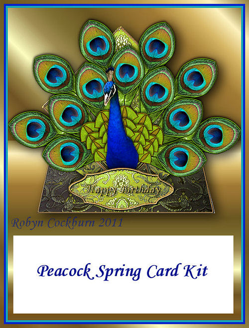 peacock spring card kit